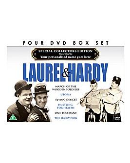 Personalised 4 DVD Box Set Laurel Hardy