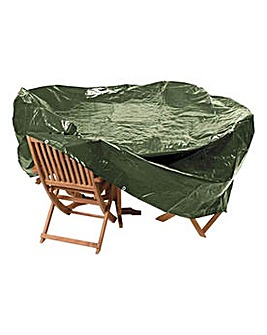 Heavy Duty Ex Lge Oval Patio Set Cover.