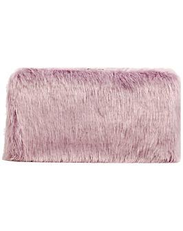 Claudia Canova Faux Fur Hard Case Clutch