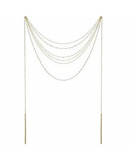 Mood Multi Row Twist Chain Necklace