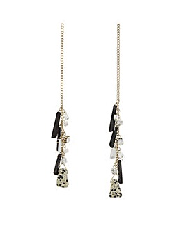 Mood Long Cluster Stone Necklace