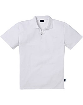 Southbay Unisex Zip Neck White Polo