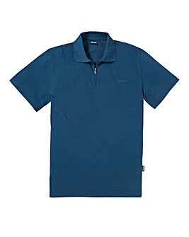 Southbay Unisex Teal Zip Neck Polo