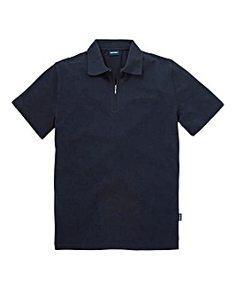 Southbay Unisex Navy Zip Neck Polo