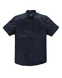 Mish Mash Malmo Navy Polka Shirt Reg
