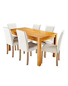 Oakham Extending Table and 6 Mia Chairs