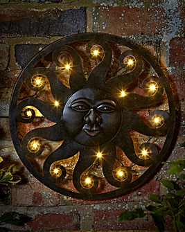 Lit Sun Wall Decor