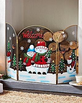 Snowman Decorative Welcome Screen