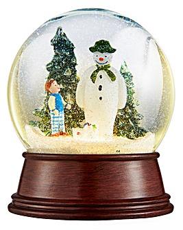 Snowman & Snowdog Musical Lit Snowglobe