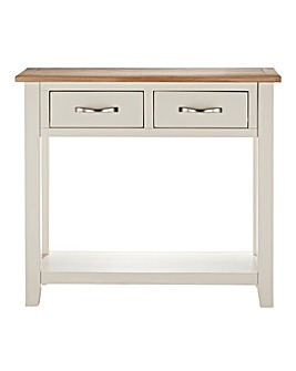 Harrogate Two Tone Oak Console Table