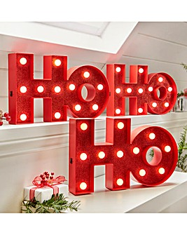 HoHoHo Light Up Wall Plaque