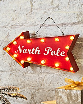 North Pole Light Up Sign