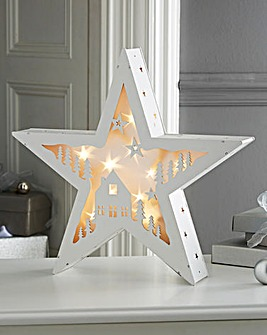 Warm White LED Holographic Star
