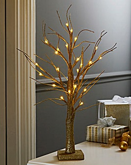 Table Top LED Glitter Tree
