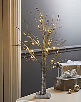 Table Top LED Glitter Tree