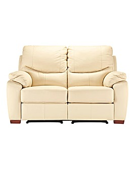 Napoli Leather Two Seater Recliner Sofa