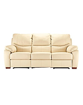 Napoli Leather 3 Seater Recliner Sofa