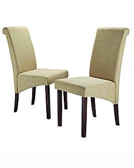 Siena Fabric Pair of Chairs