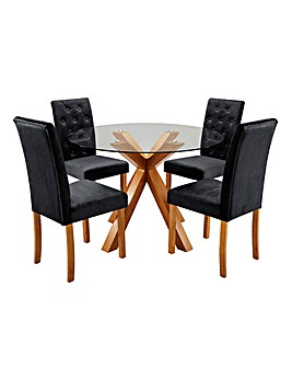 Albany Circular Table 4 Grace Chairs