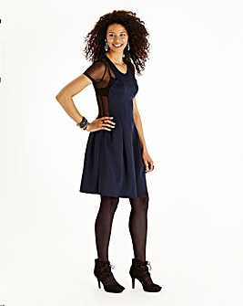 Illusion Skater Dress
