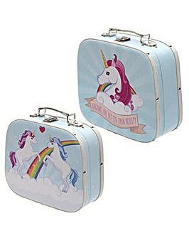 Set of 2 Craft Cases - Unicorn Design