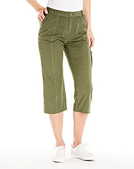 Cropped Combat Trousers