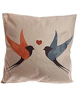 Decorative Swallows Cushion