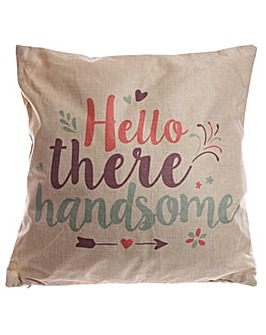 Decorative Hello There Handsome Cushion