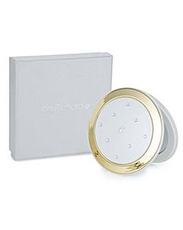 Jon Richard Cream round compact mirror