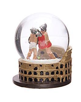 Fun Collectable Gladiators Snow Globe