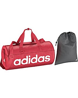 Adidas Linea Red Small Holdall and Gymsa