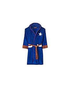 Captain America Adult Fleece Robe.