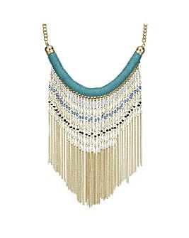Mood Fringe Beaded Collar Necklace