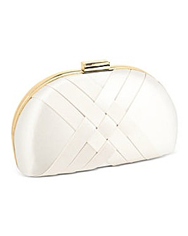 Jon Richard Satin Weave Clutch Bag