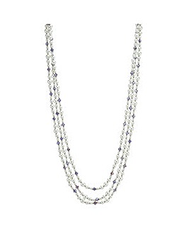 Mood Facet Beaded Pearl Necklace