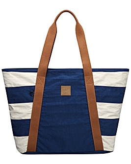 Artsac Striped Fabric Tote/beach Style
