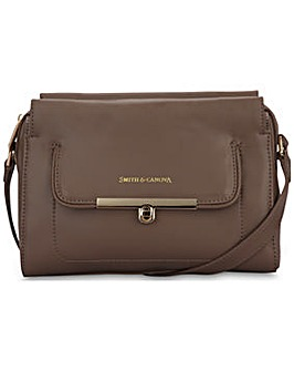 Smith & Canova Zip Top Cross-body Bag