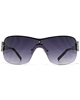 Guess Diamante Chain Visor Sunglasses