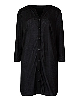 Black Button Through Tunic