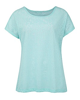 Mint Jersey Jacquard Top