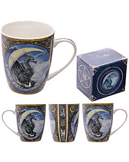 Blue Dragon Moon Design Bone China Mug