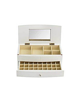 Six Compartment 1 Drawer Jewellery Box