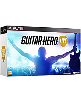 Guitar Hero Live Inc game and Guitar PS3