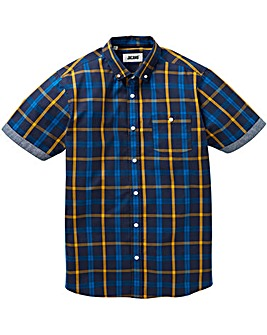 Jacamo S/S Pier Check Shirt Long
