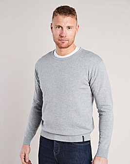 Flintoff by Jacamo Crew Neck Jumper