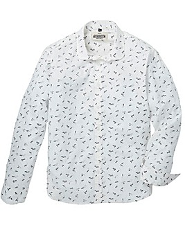 Jacamo Stream Printed L/S Shirt Regular