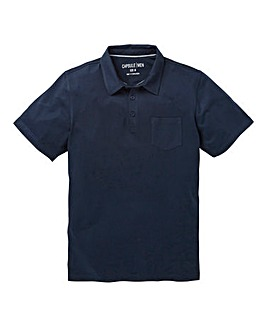 Capsule Navy Austin Jersey Polo Shirt L