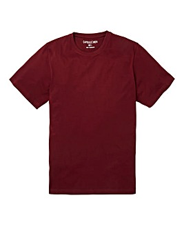 Capsule Crew Neck Wine T-shirt Regular