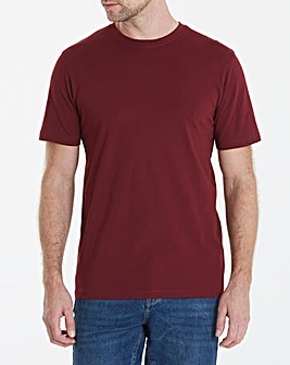 Capsule Crew Neck Wine T-shirt Long