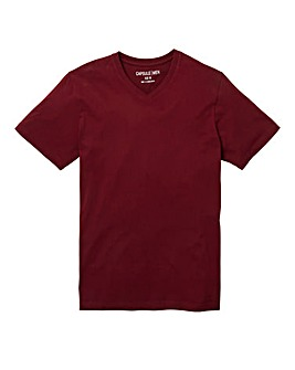 Capsule V-Neck Wine T-shirt Regular